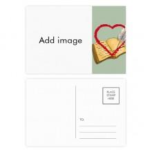 明信片卡片祝福日记情人节卡20张