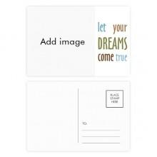 明信片卡片祝福实现梦想卡20张