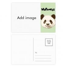 明信片卡片祝福快乐熊猫卡20张