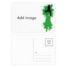 明信片卡片祝福足球卡20张