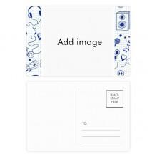 明信片卡片祝福音乐卡20张