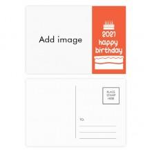 明信片卡片祝福2021年生日