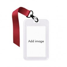 商务身份证卡套证件夹绳带