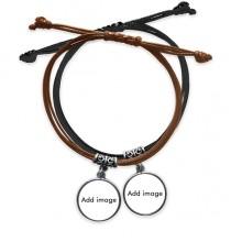 黑棕手链对饰品情侣礼物礼品