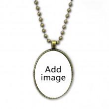 复古圆珠吊坠项链首饰挂件
