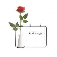塑料玫瑰装饰玻璃花瓶