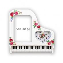 钢琴闹钟相片画框