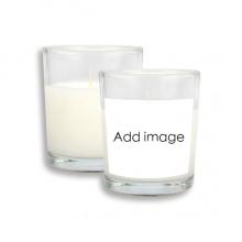 白色精油香薰蜡烛玻璃杯