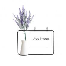 薰衣草玻璃花瓶卡片装饰