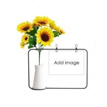 向日葵玻璃花瓶卡片装饰