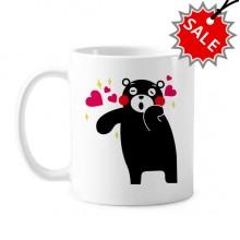 熊本熊图案 陶瓷杯子白色创意马克杯咖啡杯牛奶杯水杯【一元商品·限购一件】