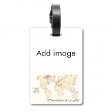 行李袋标签世界地图旅行飞机