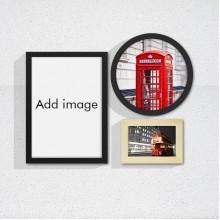 英国伦敦红色巴士艺术墙相框