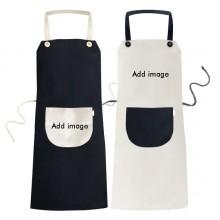 围兜烹饪厨房围裙夫妇厨师防水米色