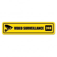 24小时视频监控指示贴纸