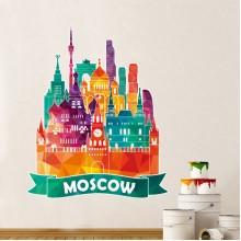 莫斯科大教堂插画图案装饰墙贴