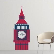 钟楼塔英国地标国旗标记插画图案