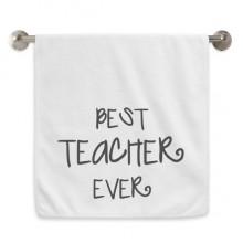 教师节很好的老师祝福 白色毛巾细纤维面巾加厚吸水干发巾34x76cm
