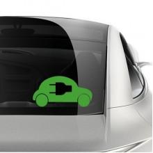 节能电动汽车标志车贴