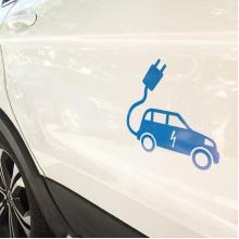 电动汽车标志车贴