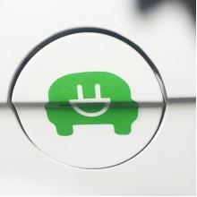 节能减排电动汽车标志车贴
