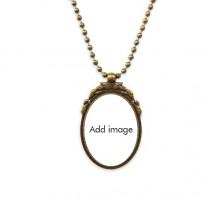 椭圆形复古项链古铜色欧式吊坠礼物