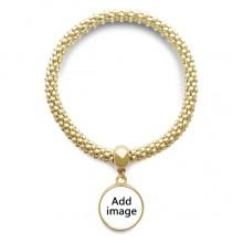 金色圆形金属吊坠手链饰品首饰礼品