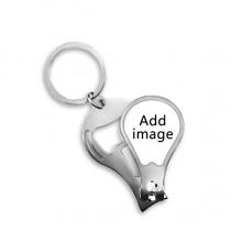 圆柄指甲刀钥匙扣指甲剪开瓶器