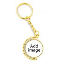 金色旋转钥匙扣挂件