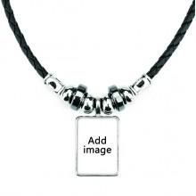 手工皮绳项链吊坠饰品