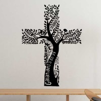 基督教圣十字架迦拉太书装饰贴纸