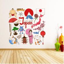 日本插画墙贴