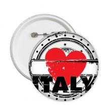 我爱意大利文字爱心艺术字插画图案 圆形徽章胸章胸牌装饰挂牌5件