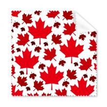 加拿大风情枫叶加拿大红色枫叶旗图案 眼镜布屏幕清洁布手机屏幕擦5张