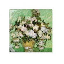 白玫瑰梵高油画作品后印象主义流派 厨房浴室瓷砖墙面装饰创意瓷砖