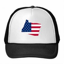 俄勒冈州美国地图星条旗美国国旗 创意个性鸭舌帽棉质户外运动帽子休闲时尚棒球帽礼物