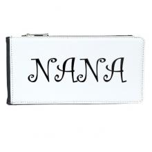 花体英文字母礼物图案 长方形皮革多卡钱包卡包
