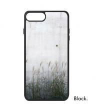 黑白金属板带芦苇装饰文艺纹理 iPhone 7/ 7Plus 手机壳手机保护套礼物