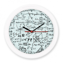 立体几何数学理科公式演算手绘 圆形无声挂钟壁钟钟表家居装饰礼物