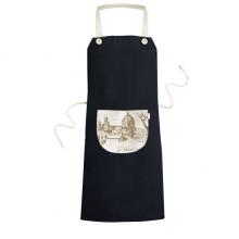 佛罗伦萨大教堂意大利佛罗伦萨地标素描图案 黑色家居厨房围裙咖啡厅网咖奶茶店工作服礼物礼品