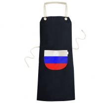 俄罗斯国旗欧洲国家象征符号图案 黑色家居厨房围裙咖啡厅网咖奶茶店工作服礼物礼品