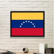 委内瑞拉国旗南美洲国家象征符号图案 黑色简约装饰画家居装饰画框礼品礼物