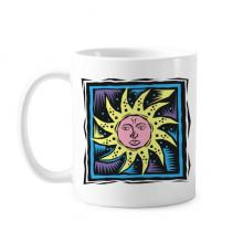 神话传说太阳神墨西哥文化元素版画 陶瓷杯子白色创意马克杯咖啡杯牛奶杯水杯