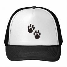 可爱爪印简笔画剪影保护动物 创意个性鸭舌帽棉质户外运动帽子休闲时尚棒球帽礼物