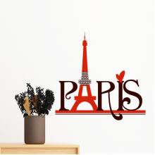埃菲尔铁塔巴黎法国国家城市文化 墙贴纸学校教室宿舍背景墙家居卧室房间装饰画可移除贴画