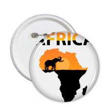 非洲大草原野生动物大象 圆形徽章胸章胸牌装饰挂牌礼物5件