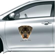 黑色凶恶罗威纳犬 车贴贴花后视镜门把手汽车贴纸装饰贴纸礼物礼品