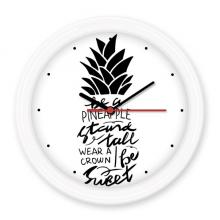 成为一个菠萝短语 圆形无声挂钟壁钟钟表家居装饰礼物