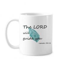 英文手写小清新圣经名句 陶瓷杯子白色创意马克杯咖啡杯牛奶杯水杯