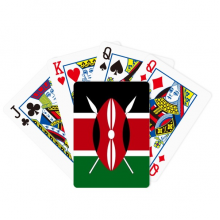 肯尼亚国旗非洲国家象征符号图案 扑克牌休闲纸牌游戏纪念礼物